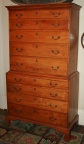American 18th Century Chippendale Tiger Maple Chest on Chest
