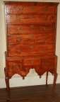 American Queen Anne 18th Century Tiger Maple Highboy