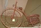 SOLD - Antique Large Wood and Iron Tricycle with Basket