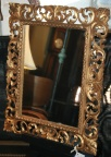 Carved and gilded wood framed mirror