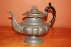 Antique English James Dixon & Son Pewter Teapot