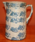 Spongeware Pitcher with Medallion