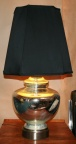 Mid Century large Mercury Glass Lamp