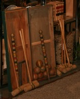 SOLD:  Turn of the Century Wooden 8 Player Croquet Set, Complete Set in Original Wooden Box