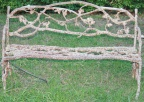 Rare antique Twig/Rustic design bench in cast iron