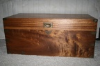 Antique Camphor Wood Chest w/ brass corners & clasp