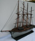 Antique Wooden 4 Mast Sailing Ship Model