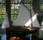 Two mast sail boat model