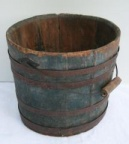 Blue Wood Bucket