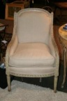 SOLD - One of a Pair of Linen Chairs