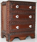 Tramp art mini chest of drawers