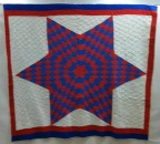 SOLD - Red, White and Blue Star Quilt