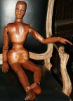 SOLD - Carved Wooden Articulated Artists Model - 34""