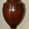 Antique Mahogany Urn Shaped Fitted Cutlery Box - see other photo