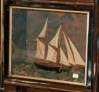 Sailing Ship Model in Shadow Box