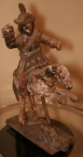SOLD - Hand Carved Primitive Soldier on Horse