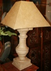 One of a pair architectural based table lamps
