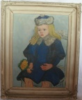 SOLD - A Painting of Karen, oil on canvas, by listed American artist Philip Von Saltza, 1885 - 1980