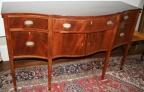 "Antique American Federal mahogany sideboard with serpentine shape and beautiful inlay.  66"" wide x 25"" & 18"" deep and 40"" high.  Very fine condition."