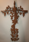 Handsomely detailed cast iron antique grave marker