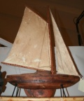 Rustic Pond Sailboat