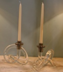 SOLD - Lucite Candle Holders