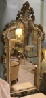 Antique beautifully carved and decoratively painted Venetian framed mirror. Approx 7 1/2 ft. tall
