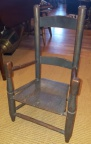 American Antique Child's Chair in Original Blue Finish