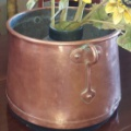 French antique copper container