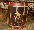 Painted Drum Table