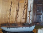 Rare antique 4 masted ship model of great size