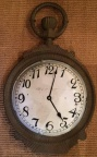 Antique Cast Iron Pocket Watch Trade Sign