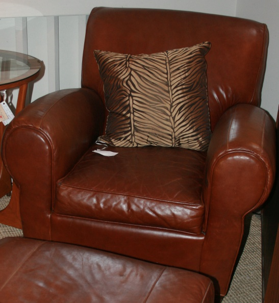 Leather Club Chair and Ottoman.JPG