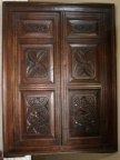18 c. French oak corner cupboard 36 X 48