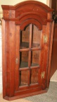 Petite French 18th c. Fruitwood corner Cupboard