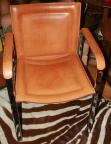 SOLD - Handsome Italian Leather and Chrome Arm Chairs signed ARRBEN - Set of 4