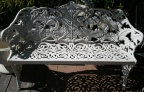Vintage Fern Design Cast Iron Garden Bench.  This pattern was originally designed by Coalbrookdale Co. in 1860.