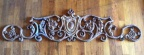 Antique cast iron architectural element