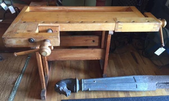 Vintage wood workbench