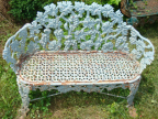 Antique Grape Pattern Garden Bench