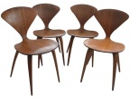 SOLD - Norman Cherner Chairs - 4 of the Set of 6