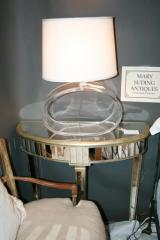 Half Round Mirrored Table