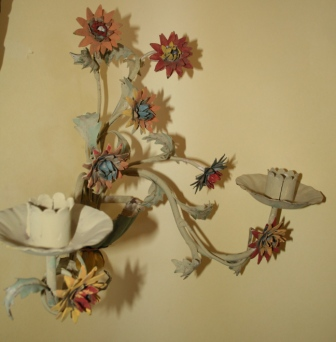 One of a Pair of Flower Sconces