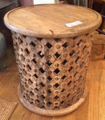 Decorative hand carved occasional table